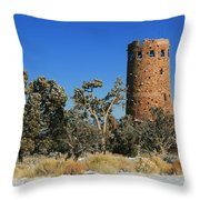 Grand Canyon Watch Tower Throw Pillow