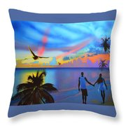 Grand Cayman Islanders Throw Pillow