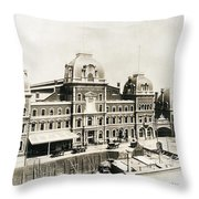 Grand Central, 1886 Throw Pillow