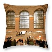 Grand Central 's Main Terminal Throw Pillow