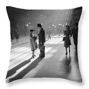 Grand Central Station 1941 Throw Pillow