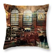 Grand Central Terminal 100 Years Throw Pillow by Diana Angstadt