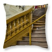 Grand Central Terminal Staircase Throw Pillow