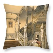 Grand Elizabethan Staircase Throw Pillow
