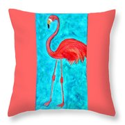 Grand Flamingo Throw Pillow