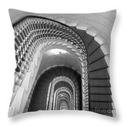 Grand Flora Stairwell Rome Italy Throw Pillow