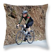 Grand Fondo Rider Throw Pillow by Susan Leggett