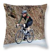 Grand Fondo Rider Throw Pillow