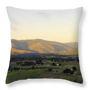 Grand Forks View From The West Throw Pillow