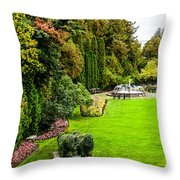 Grand Garden Throw Pillow