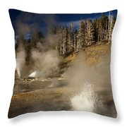 Grand Geyser Group Throw Pillow