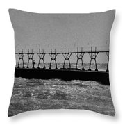 Grand Haven Light In Black And White Throw Pillow