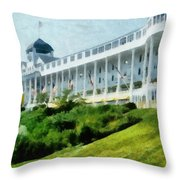 Grand Hotel Mackinac Island Ll Throw Pillow