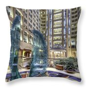 Grand Hyatt D.c. Throw Pillow