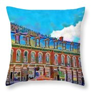Grand Imperial Hotel Throw Pillow