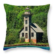 Grand Island East Channel Light Throw Pillow