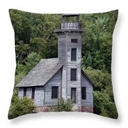 Grand Island East Channel Lighthouse Throw Pillow