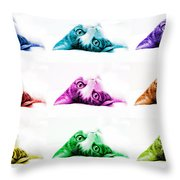 Grand Kitty Cuteness Pop Art 9 Throw Pillow