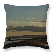Grand Marais Mn Lighthouse 5 Throw Pillow
