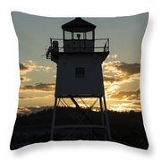 Grand Marais Mn Lighthouse 6 Throw Pillow