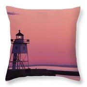 Grand Marais Mn Lighthouse 8 Throw Pillow