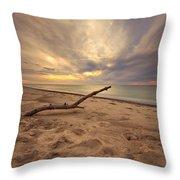 Grand Mere Sunset - Driftwood Throw Pillow