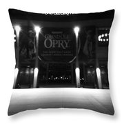 Grand Ole Opry At Night Throw Pillow by Dan Sproul