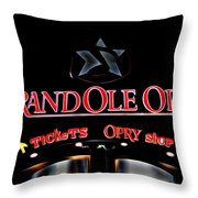 Grand Ole Opry Entrance Throw Pillow
