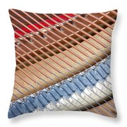 Grand Piano Strings Throw Pillow