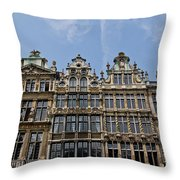 Grand Place Brussels Throw Pillow