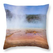 Grand Prismatic Geyser Throw Pillow
