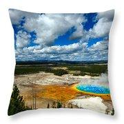 Grand Prismatic Pool Yellowstone National Park Throw Pillow