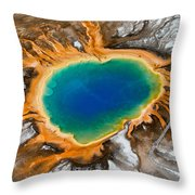 Grand Prismatic Spring II Throw Pillow