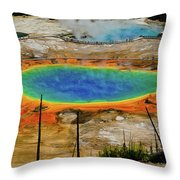 Grand Prismatic Spring No Border Throw Pillow by Greg Norrell
