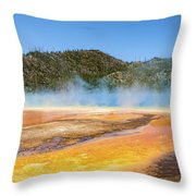 Grand Prismatic Spring - Yellowstone National Park Throw Pillow