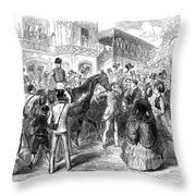 Grand Prix De Paris, 1870 Throw Pillow
