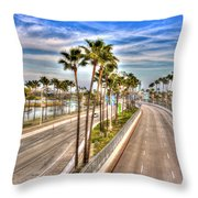Grand Prix Of Long Beach Throw Pillow