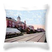 Grand Rapids - Michigan - Michigan Soldiers Home - 1915 Throw Pillow