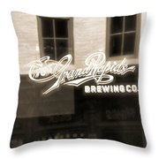 Grand Rapids Brewing Co Throw Pillow