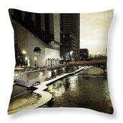 Grand Rapids Grand River Throw Pillow