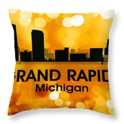 Grand Rapids Mi 3 Throw Pillow