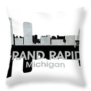 Grand Rapids Mi 4 Throw Pillow