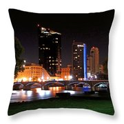 Grand Rapids Michigan At Dusk Throw Pillow