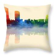 Grand Rapids Michigan Skyline 2 Throw Pillow