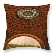 Grand Rotunda Pennsylvanian Pittsburgh Throw Pillow