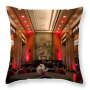 Grand Salon 01 Queen Mary Ocean Liner Throw Pillow