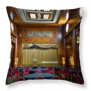 Grand Salon 02 Queen Mary Ocean Liner Throw Pillow
