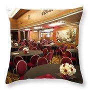 Grand Salon 03 Queen Mary Ocean Liner Throw Pillow