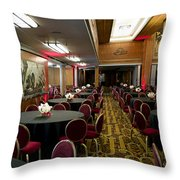 Grand Salon 04 Queen Mary Ocean Liner Throw Pillow