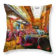 Grand Salon 05 Queen Mary Ocean Liner Photo Art 02 Throw Pillow